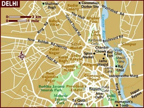 Map of New Delhi | The White Tiger: India | Scoop.it