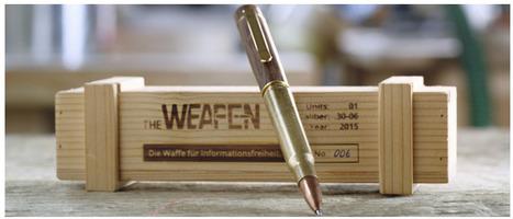 Les stylos fabriqués en balles de Reporters Sans Frontières | Non profit and fundraising | Scoop.it