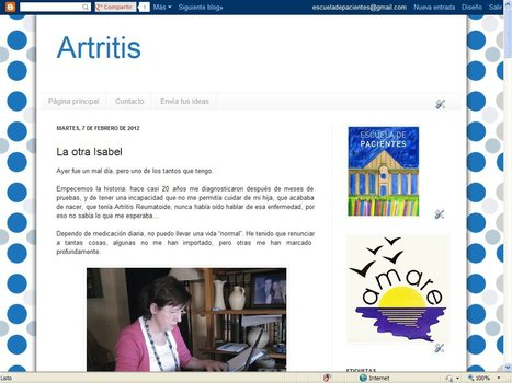 Blog de Artritis | Blogs Escuela de Pacientes | Scoop.it