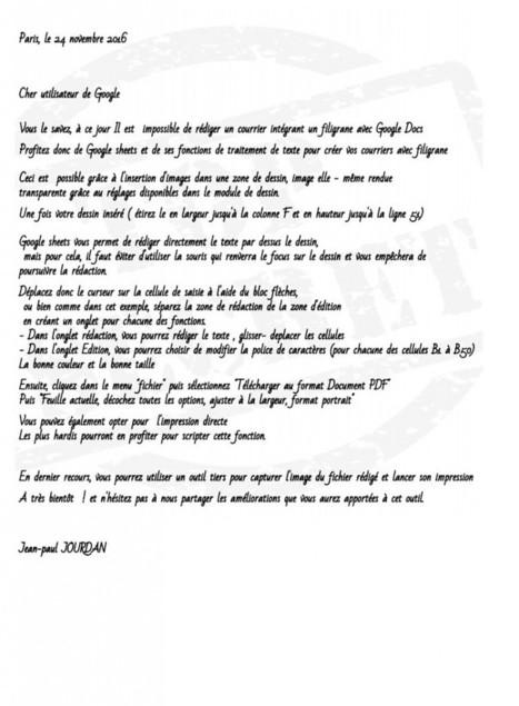 Un filigrane dans un courrier Google ? | TIC et TICE mais... en français | Scoop.it