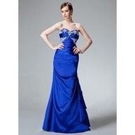 [US$ 126.99] Mermaid Sweetheart Floor-Length Charmeuse Evening Dress With Ruffle Beading Appliques (017004185)   wedding dresses   Scoop.it