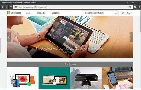 Microsoft crea nuevo navegador para demostrar el motor de renderizado del navegador Edge | GeeksRoom | Bits on | Scoop.it