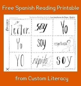 Spanish Reading for Kids: Printable Activity from Custom Literacy | spanish | Scoop.it