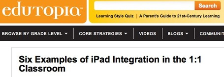 Six Examples of iPad Integration in the 1:1 Classroom | iPad lesson ideas | Scoop.it