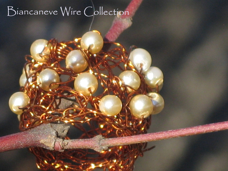 Biancaneve collection: Anelli tra i rami.....wire rame, perle e crochet! | biancanevecollection | Scoop.it