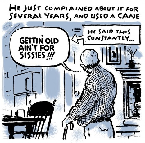 'Getting old ain't for sissies': Cartoonist Jack Ohman draws his dad's final years | Senior Care News | Scoop.it