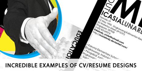 Incredible Examples of CV/Resume Designs | DesignXon.com | TALENT SELECTION | Scoop.it