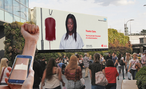 NHS launches first ever augmented reality billboard campaign to show power of blood donations | Pharma Marketing | Scoop.it