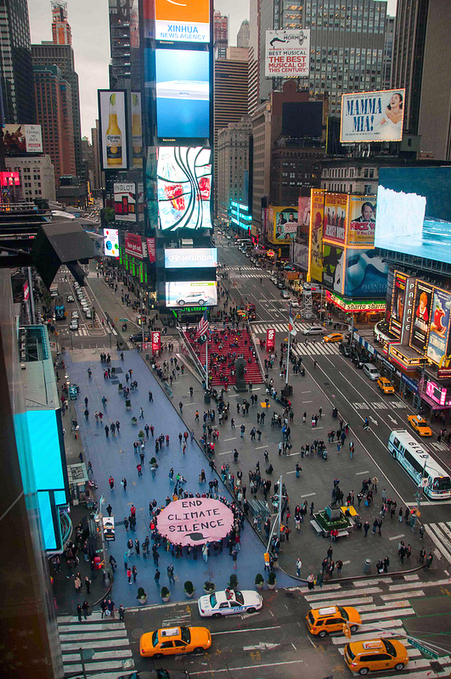 Activists Unfurl Giant 'End Climate Silence' Banner in Times Square | EcoWatch | Scoop.it