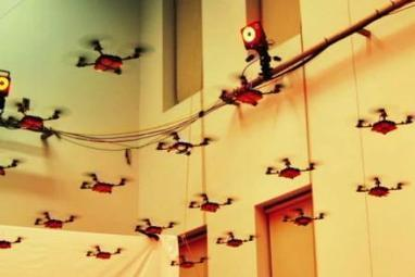 Great Video: Amazing mini robot helicopter Nano Quadrotors flying in swarm | Robotic Helicopters | Scoop.it