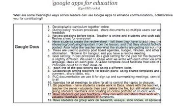 Tons of Ideas on How to Use Google Apps in your Classroom ~ Educational Technology and Mobile Learning | Ed Tech Integration | Scoop.it