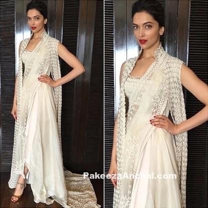 Deepika Paduknoe in Gold Dhoti Style Saree   Indian Fashion Updates   Scoop.it