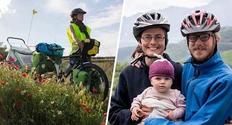 Ils traversent l'Europe en vélo avec leur bébé en mode végan zéro-déchet   Attitude BIO   Scoop.it