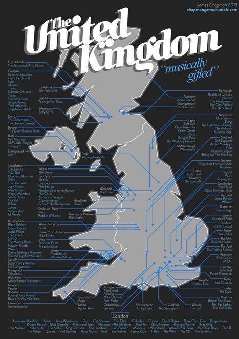 174 groupes et artistes rassemblés sur une carte du Royaume-Uni | Géographie : les dernières nouvelles de la toile. | Scoop.it