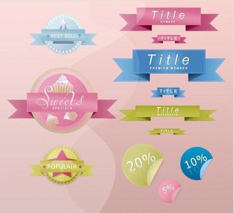 2 sets de cintas y botones para paginas web en formato psd | Photoshop y Tutoriales | Tecnología y Software | Scoop.it
