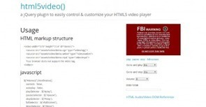 HTML5 Ninja - html5video - jQuery plugin | live preview | Javascript | Scoop.it