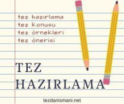 Tez Hazırlama - tezdanismani.net | Tez Konusu | Scoop.it
