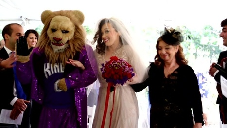 Sacramento Kings mascot Slamson walks bride down aisle | Mascots | Scoop.it