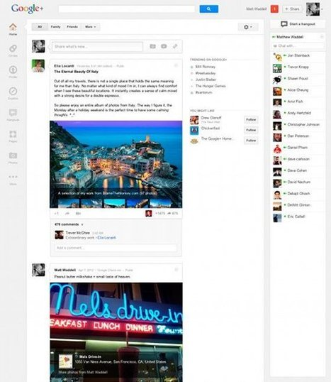 Las claves del nuevo diseño de Google+ | Searching & sharing | Scoop.it