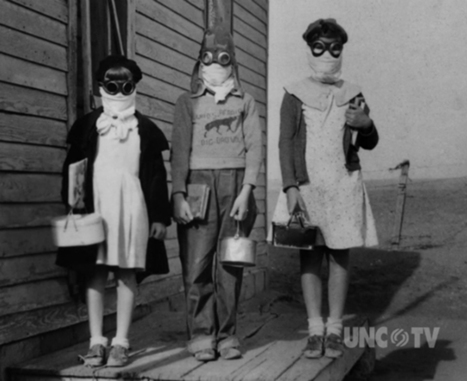 Children going to school during the Dust Bowl years | Vintage Living Today For A Future Tomorrow | Scoop.it
