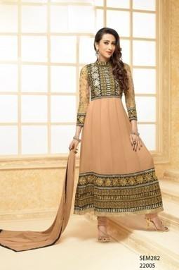 Exclusive Karishma Kapoor Cream Designer Anarkali Suit @ Rs 1940 - giftadi | Gifting Zone | Scoop.it