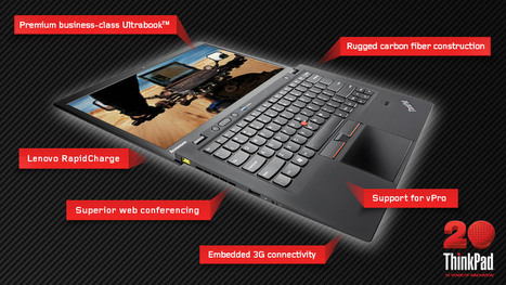 ThinkPad X1 Carbon - rugged business-class Ultrabook from Lenovo | ICT showcases (explore) | Scoop.it