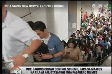 Commuters Divided over MRT's New Crowd Control Scheme ... | Sports Facility Management:  4161293 | Scoop.it