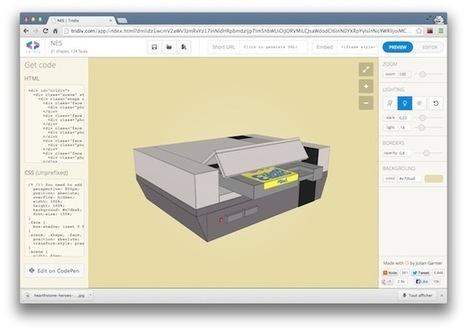 Tridiv - Un éditeur 3D en CSS - Korben   Au fil du Web   Scoop.it