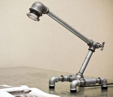 Plumbing Furniture: 12 DIY Fixtures Made of Pipes & Fittings | Designs & Ideas on Dornob | diydesign | Scoop.it