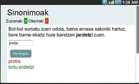 EGA APP. EGA AZTERKETA.  Androiderako aplikazioa | Hizkuntza zuzentasuna | Scoop.it