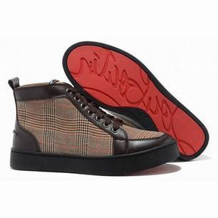 Christian Louboutin Rantus High Top Mens Sneakers Brown | my want collection | Scoop.it