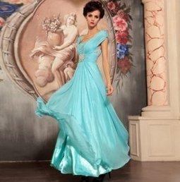 Elegant Blue Long Evening Dress [D070] - $159.70 : | The Latest Fashion Dresses | Scoop.it