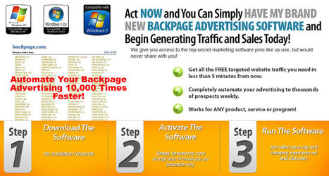 Automated Backpage Advertising Software | I Make Money From Home | Scoop.it