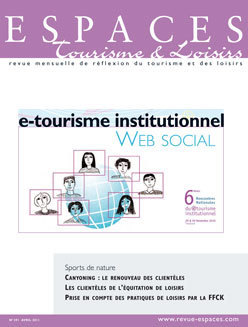 E-tourisme institutionnel - Web social (Revue Espaces) | etourisme | Scoop.it