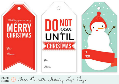 Holiday Roundup: Awesome Free Gift TagPrintables - Home - Creature Comforts - daily inspiration, style, diy projects + freebies | Du fait main & some handmade | Scoop.it