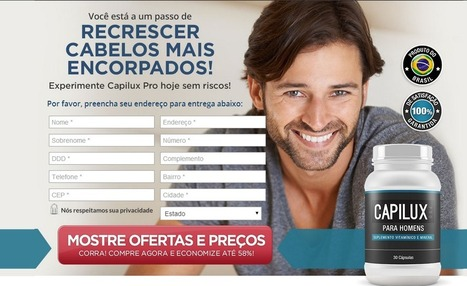 CAPILUX PRO REVISÃO - solução para a perda de cabelo masculino | rita mitchell | Scoop.it