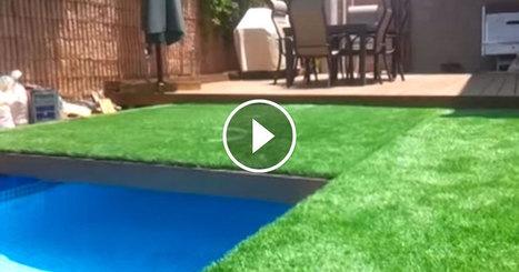 Ce jardin étonnant cache une piscine sous sa pelouse que Gil fait apparaître au gré de ses envies | Immobilier Montréal | Scoop.it