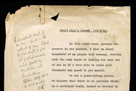 King's Speech script found: King George VI had NINE DAYS to prepare for ... - Mirror.co.uk | Public Speaking | Scoop.it