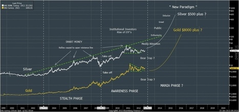 The Stunning Roadmap to $500 #Silver & $8,000 #Gold | Gold and What Moves it. | Scoop.it
