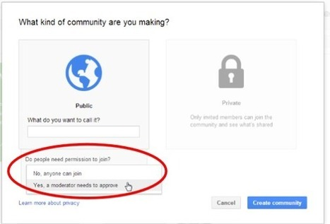 11 Steps to Create A Google Plus Community for your Class | Free Tutorials in EN, FR, DE | Scoop.it