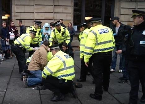 "Justice! Glasgow protestors ""unlawfully"" arrested beat police court case   Politics Scotland   Scoop.it"