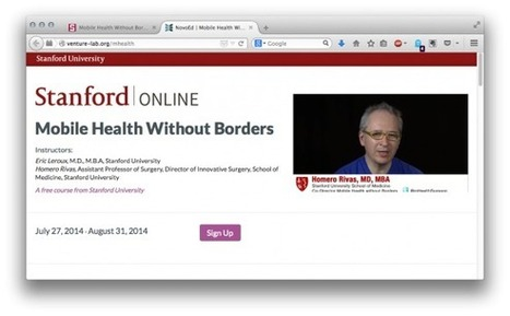 Stanford to offer free online training in mobile health | Veille e-santé & startup e-santé | Scoop.it