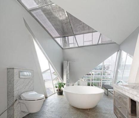 Une villa contemporaine bien plus penchée que la tour de Pise | Construire sa maison avec un architecte | Scoop.it