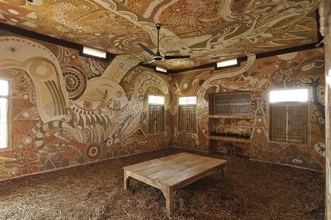 A Sprawling Mud Mural by Yusuke Asai Brings Art Into Classrooms in India | Beauty | Scoop.it