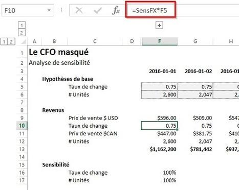 Excel: Analyse de sensibilité sur les hypothèses ou sur les résultats? | Modélisation financière | Scoop.it