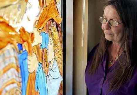 Santa Cruz woman's art adorns windows all over town - Santa Cruz Sentinel   Creative Art   Scoop.it