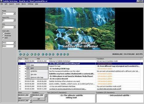 Subtitle Workshop, potente herramienta gratuita para crear y editar subtítulos | Las TIC en el aula de ELE | Scoop.it