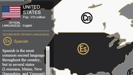 See the World's Second Most Spoken Languages with This Interactive Map   Film and Literature   Scoop.it
