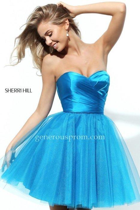 Sweet Turquoise Sherri Hill 50657 Short Prom Dresses - $150.00 : Prom Dresses | Generous Dresses | Prom & Homecoming Dresses | Scoop.it