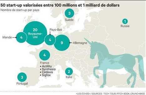 Les 50 prochaines licornes européennes | Valérie's Diary : Social Media, Community Management, Webmarketing | Scoop.it